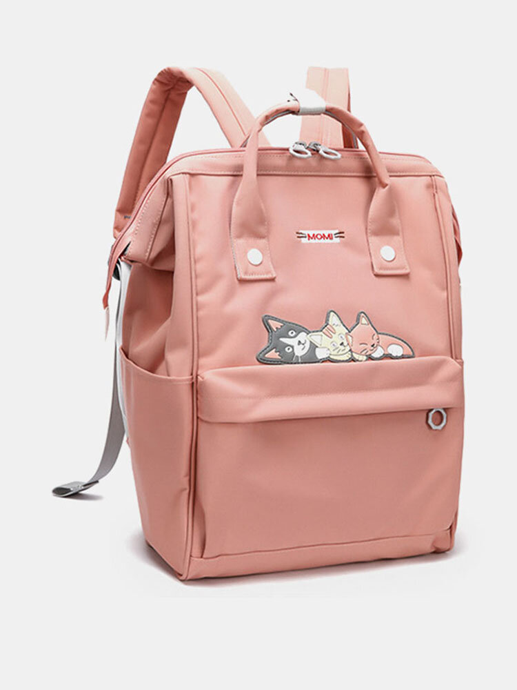Women Oxford Waterproof Anti-theft Cat Casual Backpack