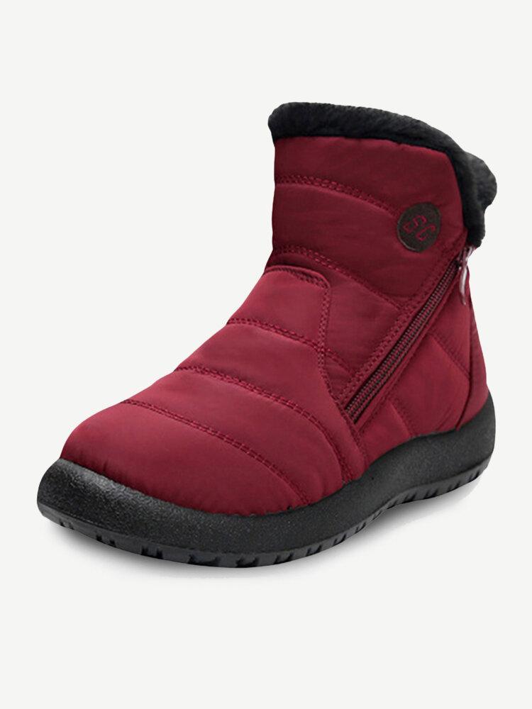 Plus Size Women Waterproof Warm Soft Non Slip Winter Boots