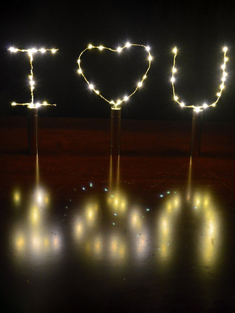 90CM 15LEDs Wine Bottle String Lights Cork Shaped Silver Wire Starry Lamp Party Christmas Decor