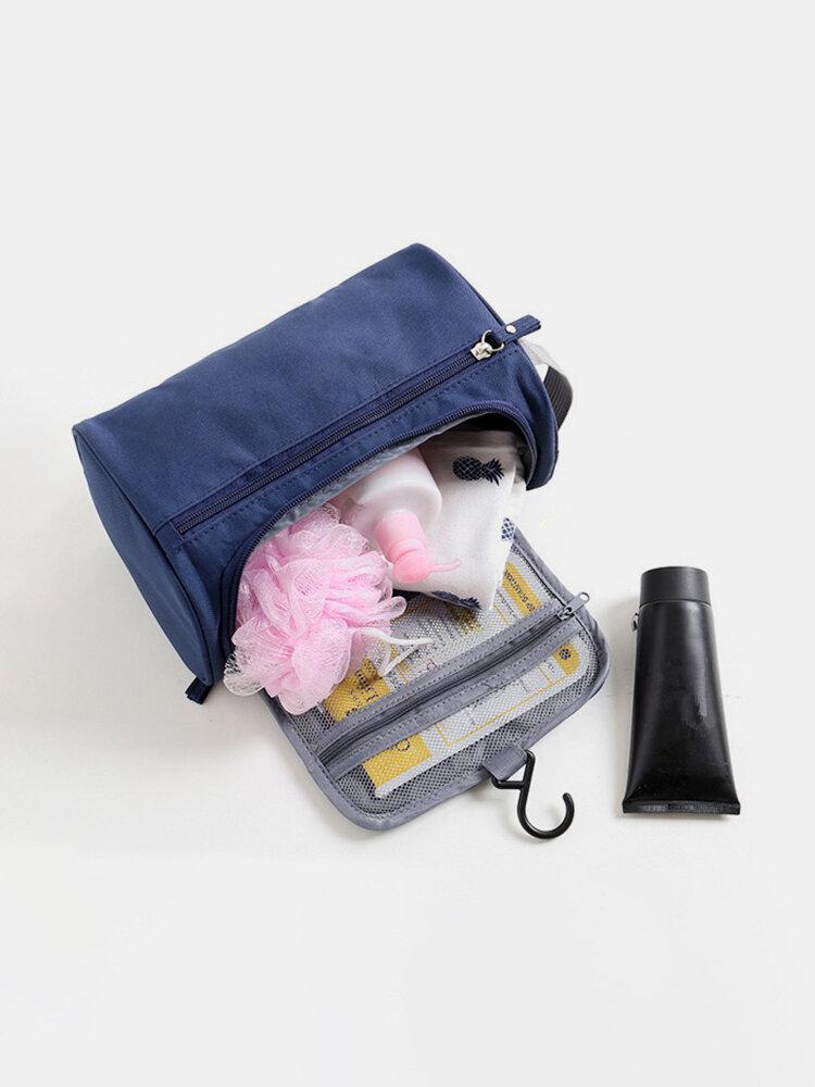 Waterproof Cosmetic Bag Hanging Nylon Travel Large Camouflage Storage Case Men Women