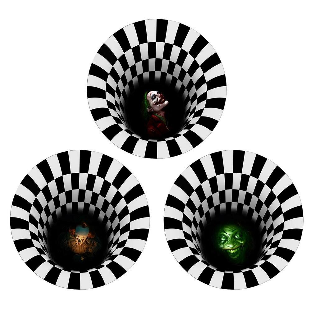 Halloween Fußmatte rutschfeste Tür Dekoration Teppich 3D Illusion Fußmatte erschreckender Clown Halloween Dekor Teppich