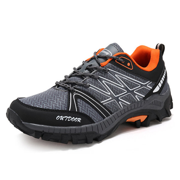 Men's Fabric Breathbale Outdoor Wearable Lace Up Sport Casual Sneakers