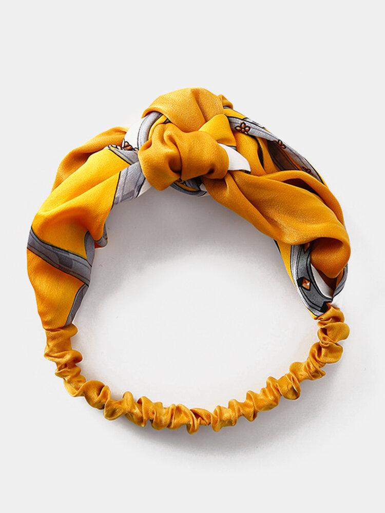 Womens Print Fashion Comfortable Stripe Headwear Travel Home Casual Headband
