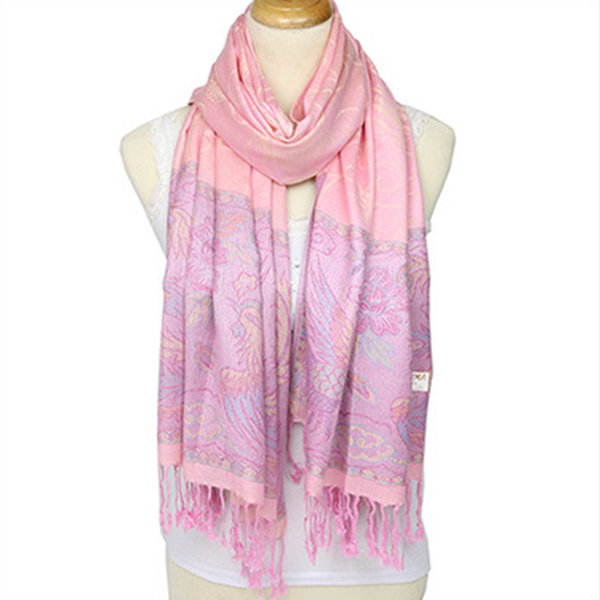 Female Jacquard Cotton Scarf Shawl Brand Tassel Scarves Women Retro Fashion Winter Wrap Scarf
