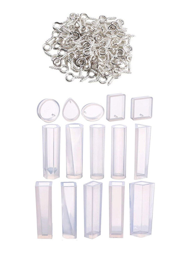 115Pcs/Set Handmade Jewelry Making Crystal Earrings Necklace Mould Silicone Mold DIY Tool Epoxy Resin Craft Geometric Pendant