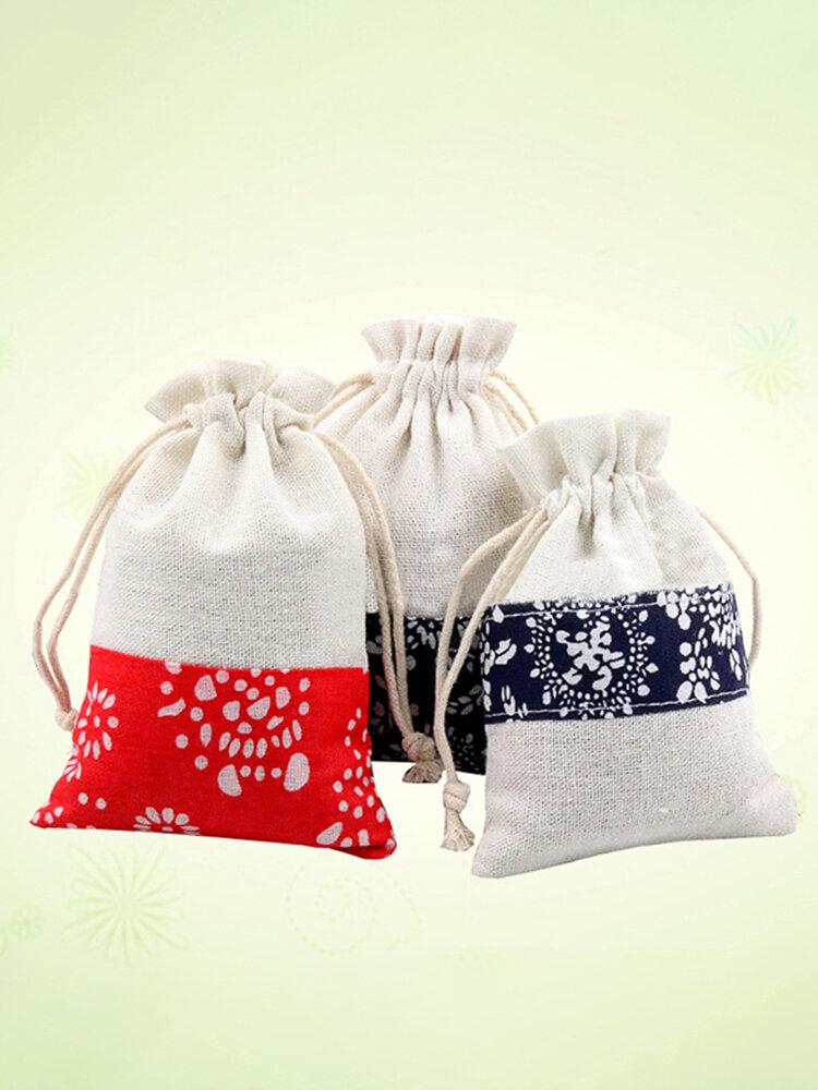 Linen Bag Drawstring Wedding Christmas Packaging Pouchs Gift Bags Small Jewelry Sachet Mini Jute Bag