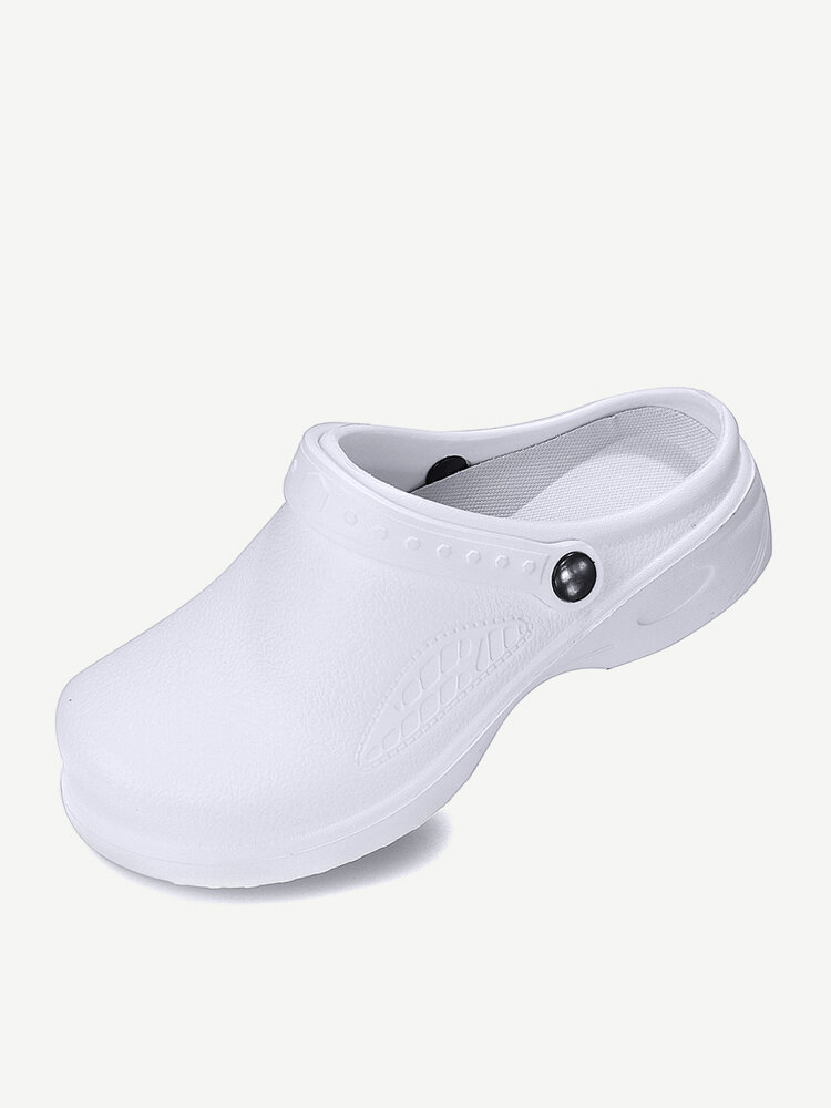 Women Lightweight Oil-proof Non Slip 2 in 1 Clogs Chef & Nurse Shoes