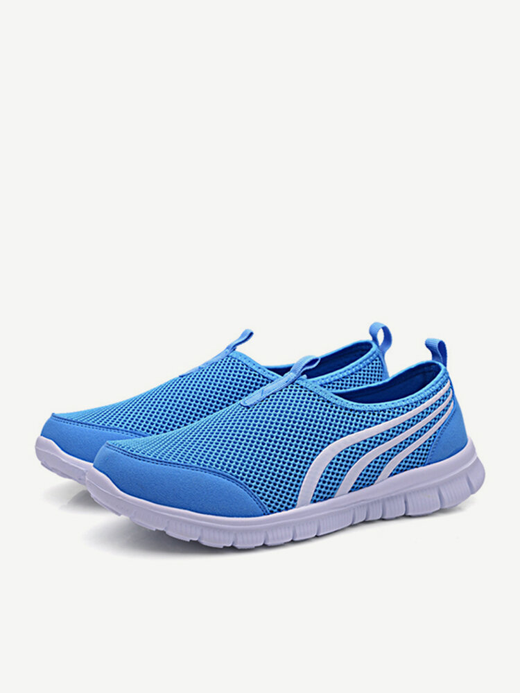 Mesh Breathable Light Slip On Sport Casual Flat Trainers