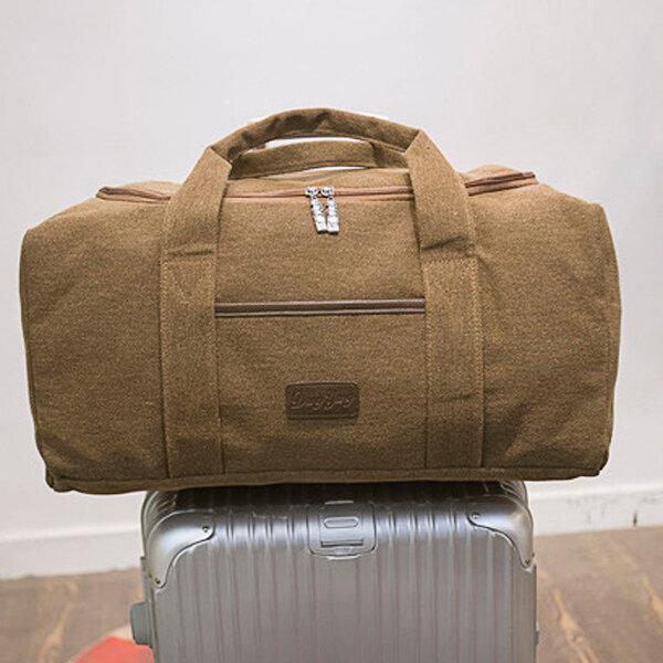 40L Big Capacity Travel Crossbody Bag Outdoor Dual-use Canvas Handbag For Men