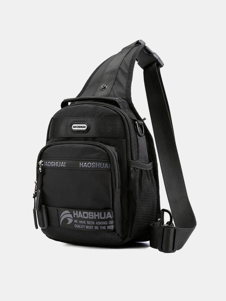Men Multi-pocket Waterproof Multi-carry Backpack Crossbody Bag Chest Bag Sling Bag