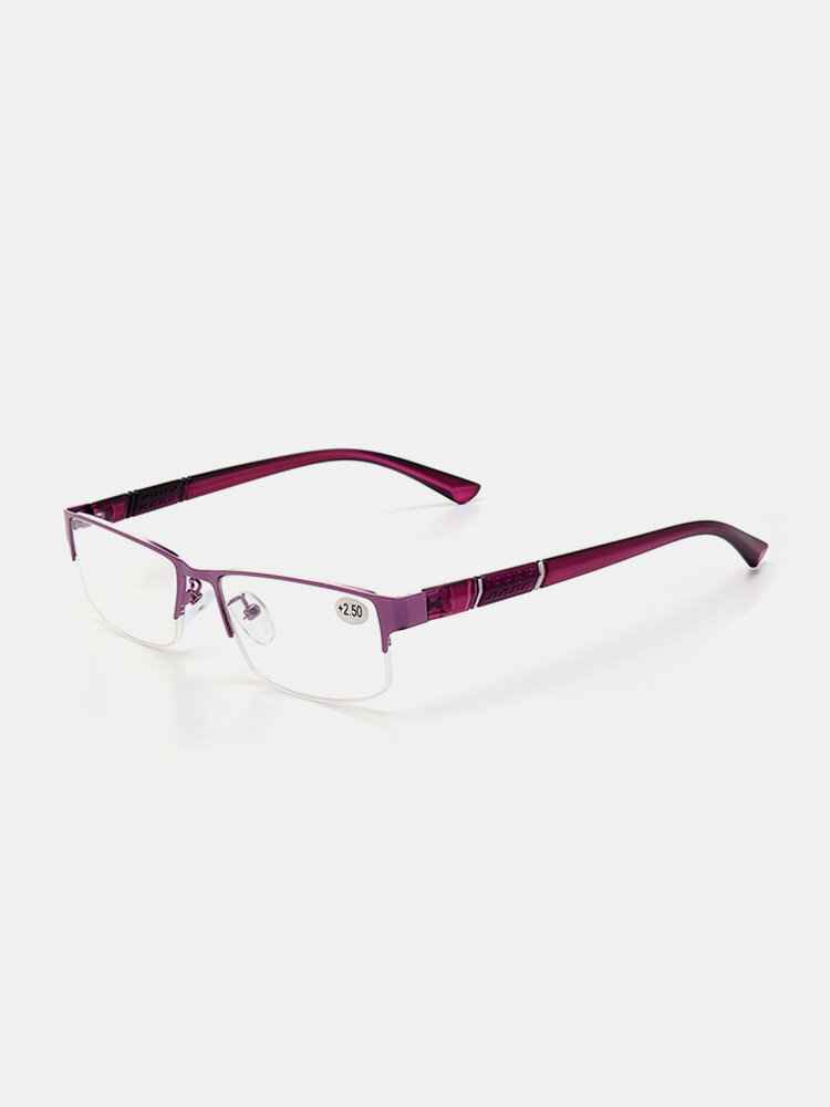 Men Alloy Frame Resin Lens High Clarity Comfortable Fashion Business Reading Glasses