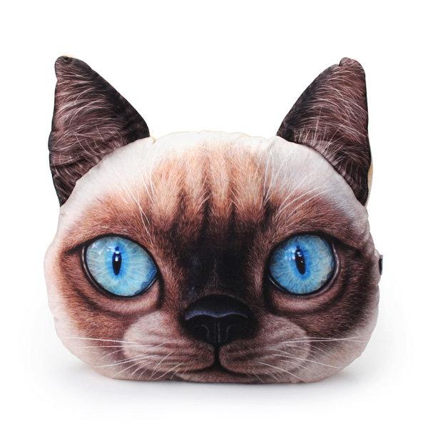 Creative 3D Dog Cat Throw Pillows Plush Meow Star Sofa Bed Cushion 2 Sizes