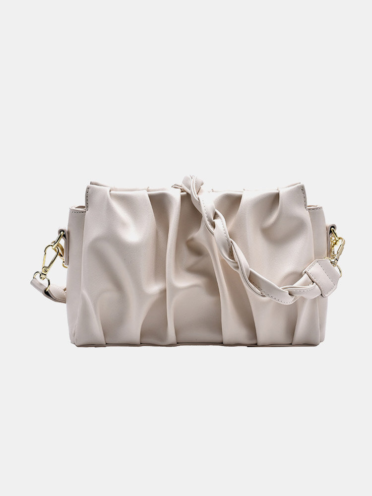 Chain Decor Pleated Underarm Bag, newchic  - buy with discount