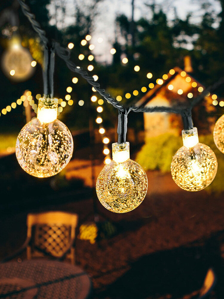 20/50 Pcs Solar Lamp String LED Outdoor Waterproof Colored Lights Garden Balcony Decoration Lights