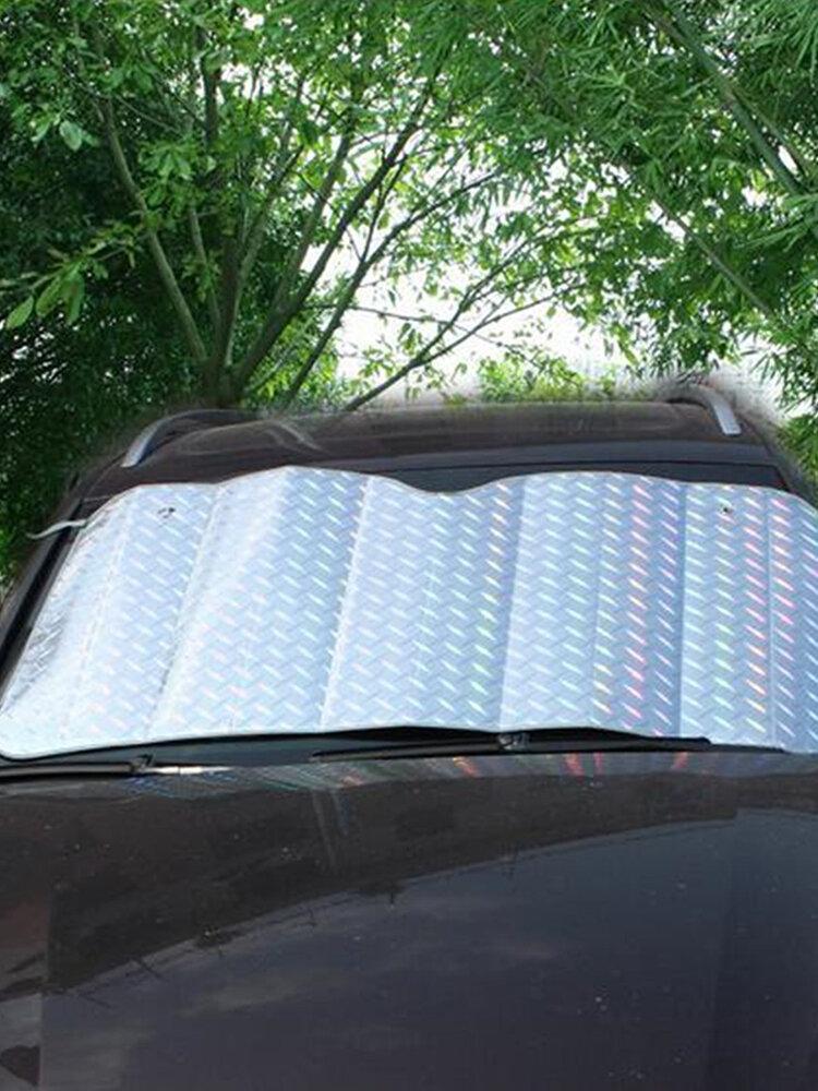 フロントウィンドウ車のフロントガラスUVレーザーサンシェードブロックスクリーン150cmx80cm折りたたみ式