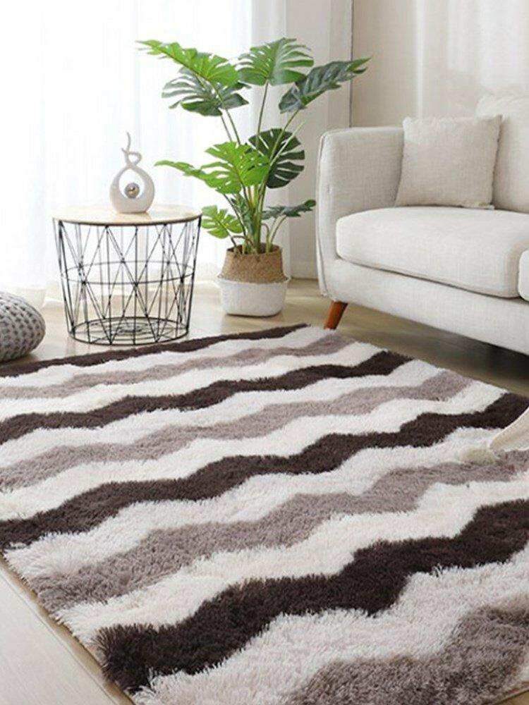 Langes Haar Bunt Tie-Dye Farbverlauf Teppich Wohnzimmer Schlafzimmer Nachttisch Decke Couchtisch Kissen Voller Teppich Bodenmatte