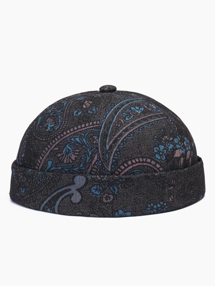 Men & Women Amoeba Print Element Fashion Skull Caps Brimless Cap