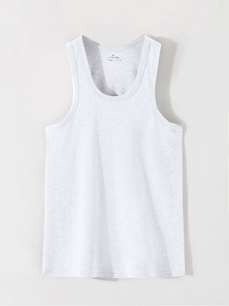 Men Sproty Casual Comfortable Soft Bottoming Vest