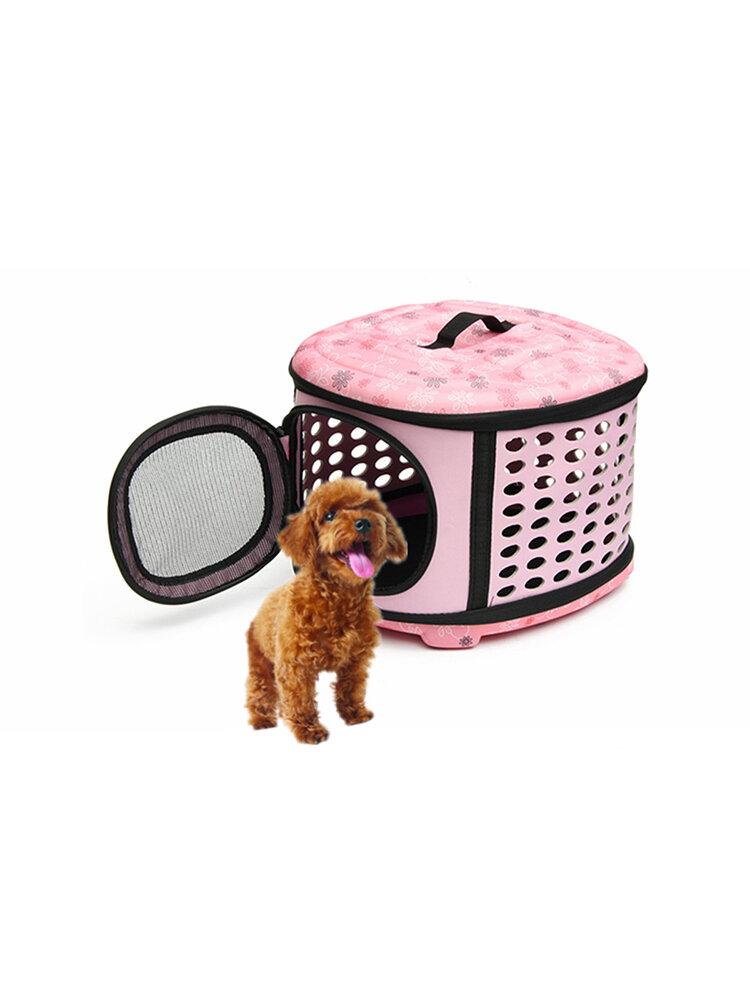Small Pet Perro Gato Transportador de cachorros y gatitos Transportador de jaulas portátiles 3 opciones de colores