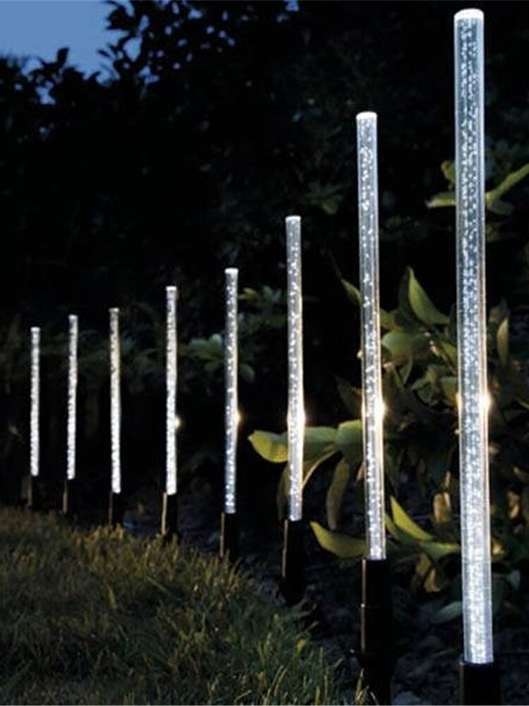 8 PZ solare Luci di alimentazione Bubble White luce a led Prato da giardino per esterni lampada