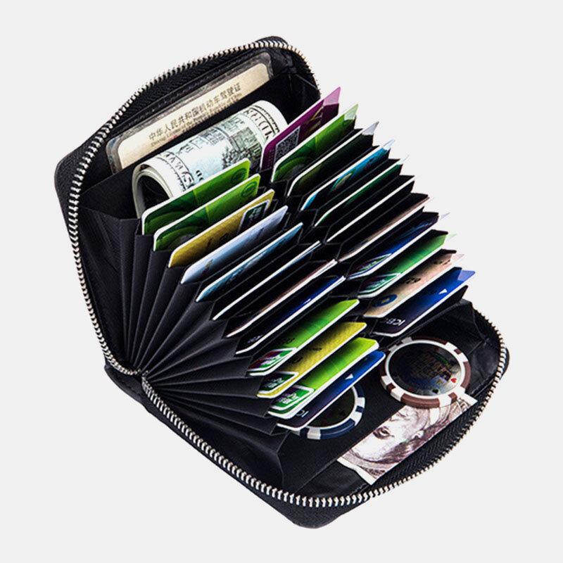 Women Genuine Leather RIFD Multifunctional Multi-card Slots Money Clip Wallet Purse Coin Purse