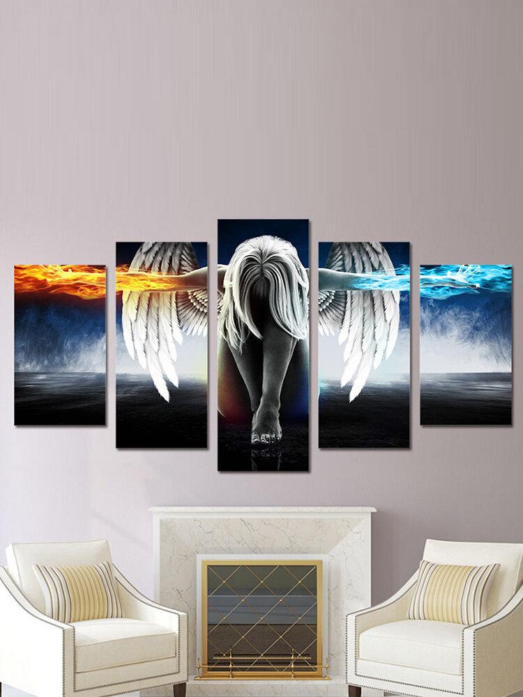 5 pièces sans cadre ange art moderne peinture impression sur toile mur photo décor à la maison