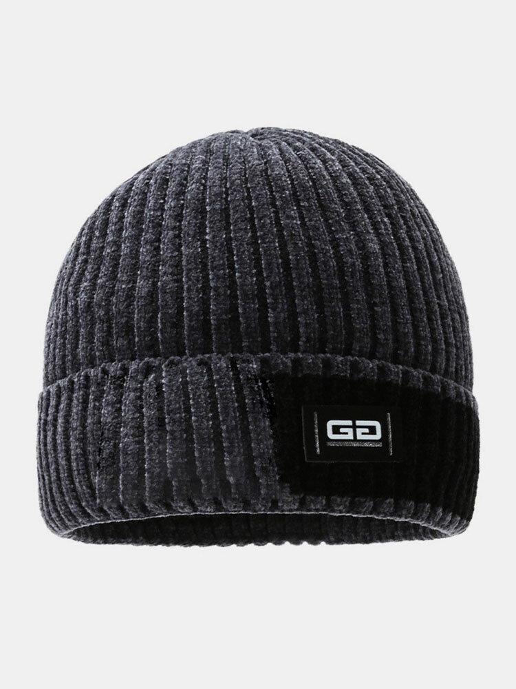 メンズレターパターンPlus厚手の冬は暖かく防風ニット帽を保つ