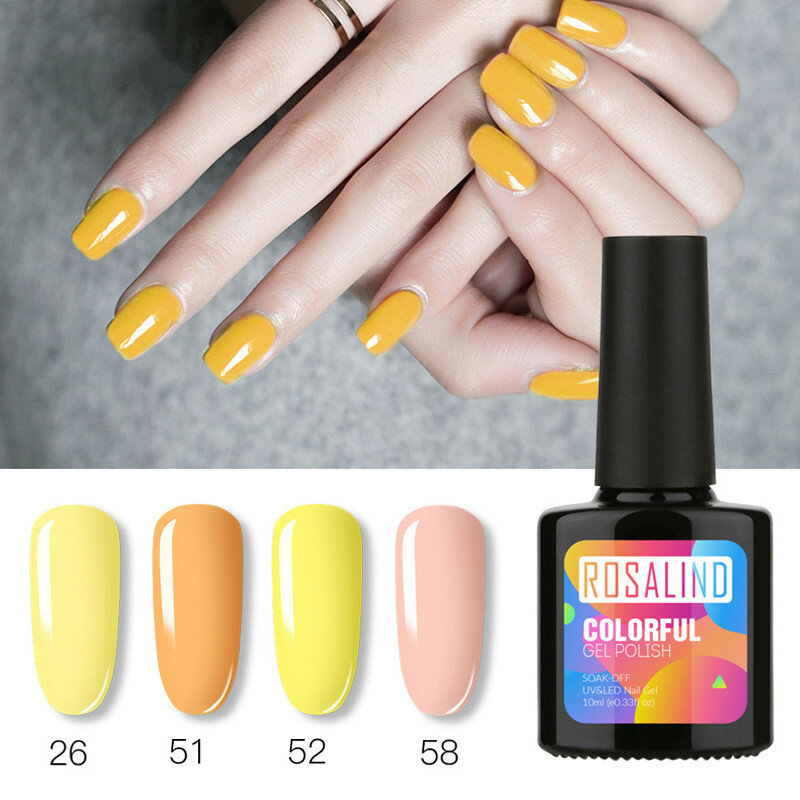 10ML Gel Nail Polish 58 Colors Solid Color UV Nail Glue For Nail Art Lacquer Vernis Semi Permanent Acryl Gel Varnishes Top Coat