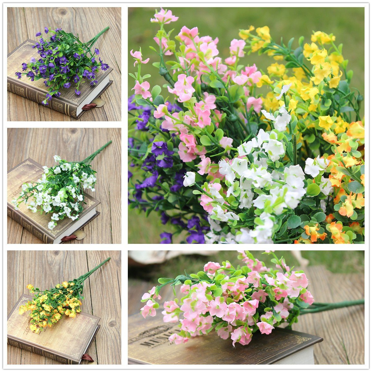 Artificial Flower Gypsophila 1 Bouquet 6 Branches Wedding Party Home Decorations