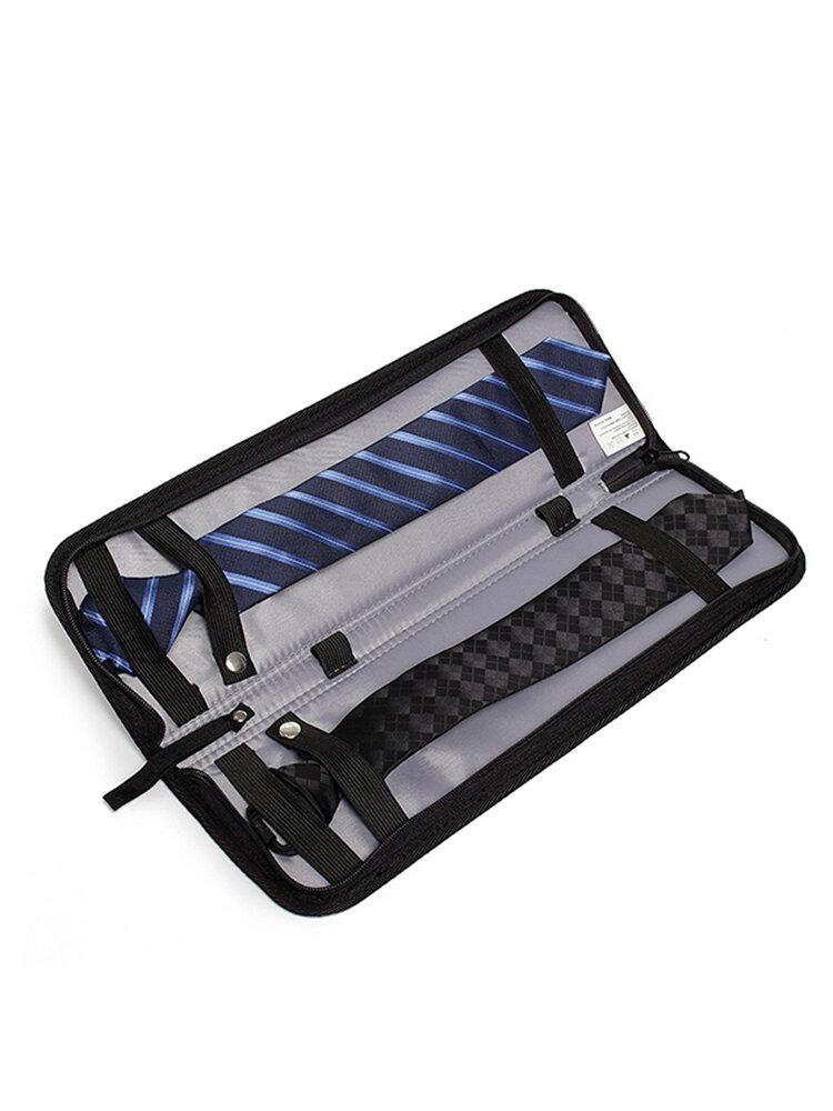 Tie Storage Bag Men's Travel Waterproof Nylon Tie Storage Box