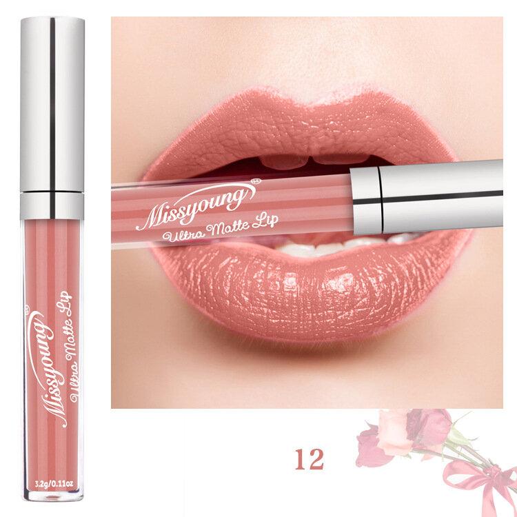 Best Missyoung Matte Liquid Lipstick Velvet Nude Pigment