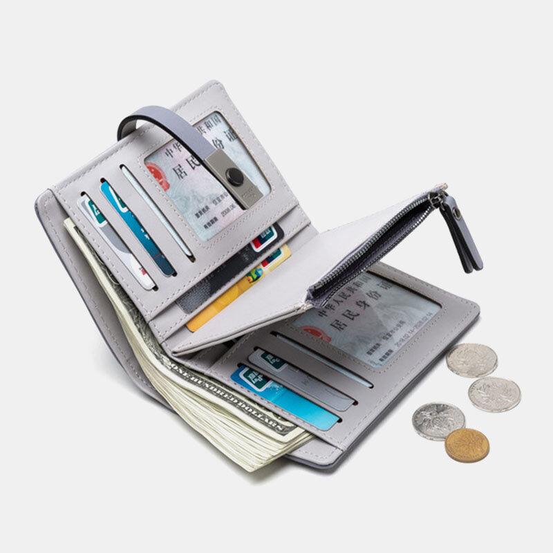 महिला खोखले आउट पर्स पर्स 6 कार्ड स्लॉट वॉलेट