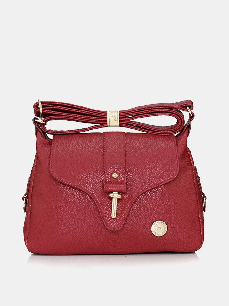 MYSTON Women Casual Zipper Crossbody Bag Ladies Elegant Shoulder Bag