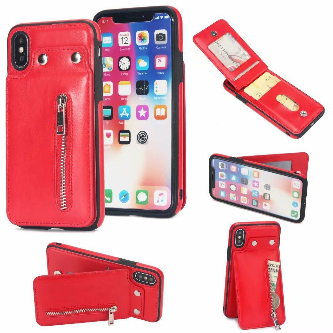 Women Multi-functional Card Holder Wallet Phone Case for iphone Samsung