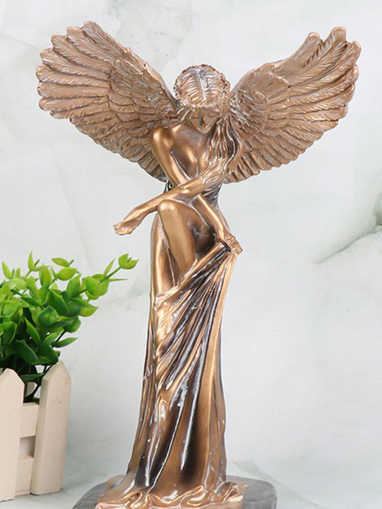 1 PC Resin High-quality Spread Wings Angel Desktop Decoration Stylish Redemption Angel Innovative Cherub Sculpture Decor