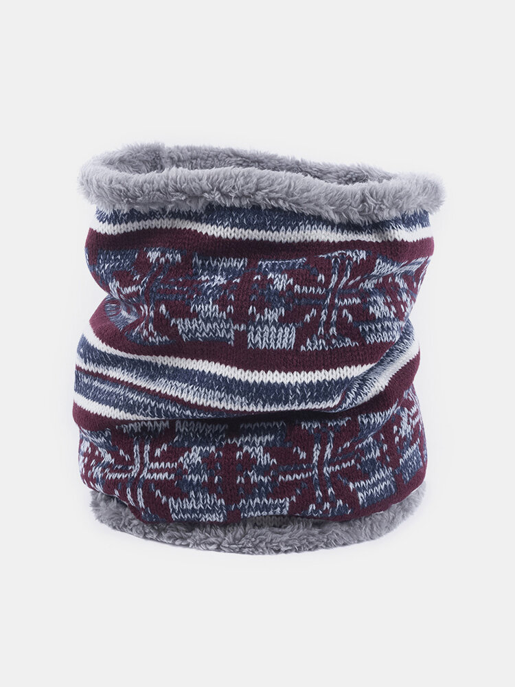 Men Winter Scarf Wool Plush Thick Windproof Warm Vogue Vintage Wild Outdoor Ski Cycling Scarf