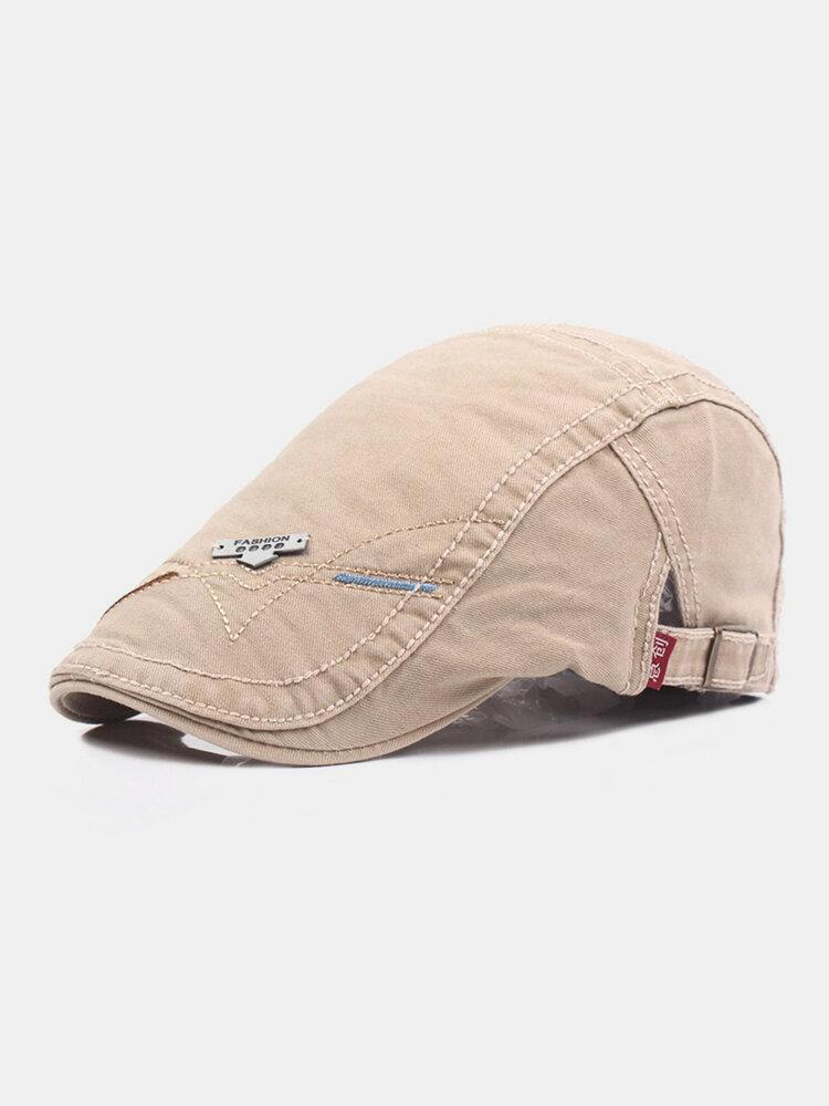 पुरुषों सूती ठोस रंग आकस्मिक फैशन Sunvisor फ्लैट टोपी आगे टोपी टोपी टोपी