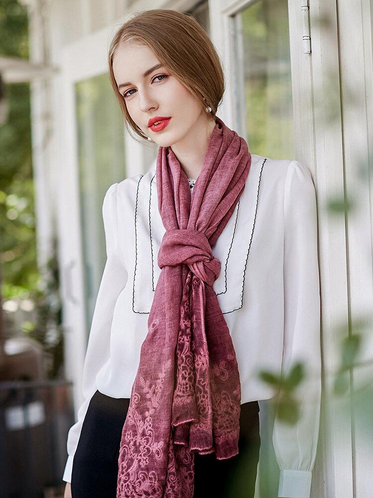 UACY 185cm*85cm Lace  Cotton Scarves Shawl Casual Travel Shawls Wraps Soft Breathable Scarves