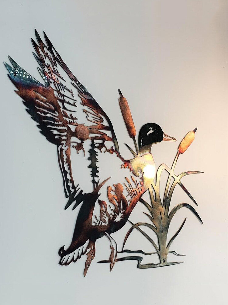1 PC Métal Oiseau Animal Silhouette Mur Art Décoration Murale Maison Intérieur Extérieur Salon Cour Jardin Fer Art Ornements