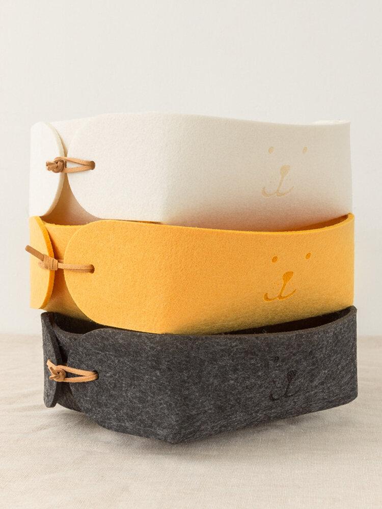 3 цвета Nordic Felt Storage Коробка Прекрасная маленькая корзина для хранения ключей Коробка