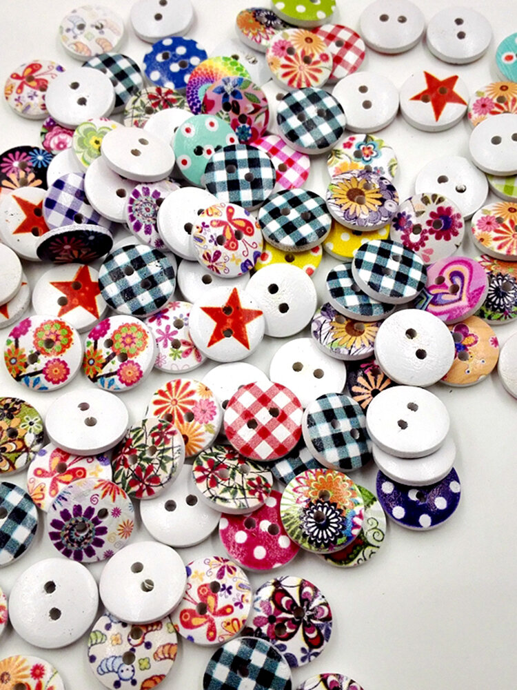 100 Pcs Multicolor Decoration Sewing Buttons DIY Clothing Accessories