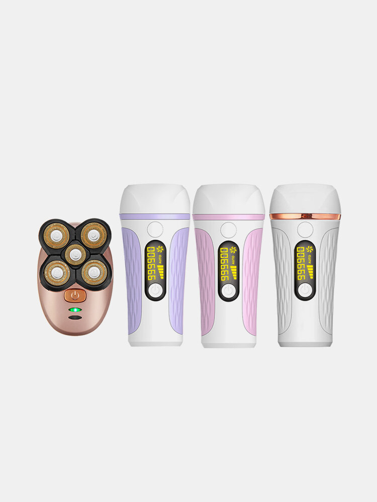 999,900 Flashes Painless Electric Epilator Permanent IPL Laser Hair Removal Device Temperature Protective LCD Display