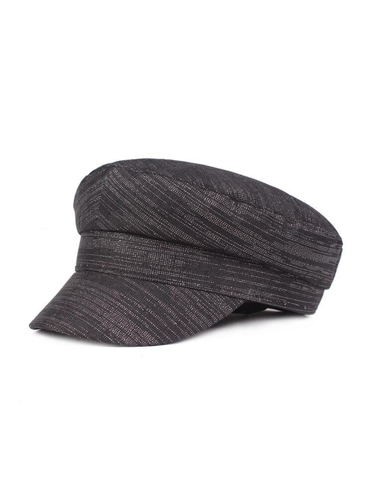 Women Man Flat cap Solid Color Navy Cap Sun Hat