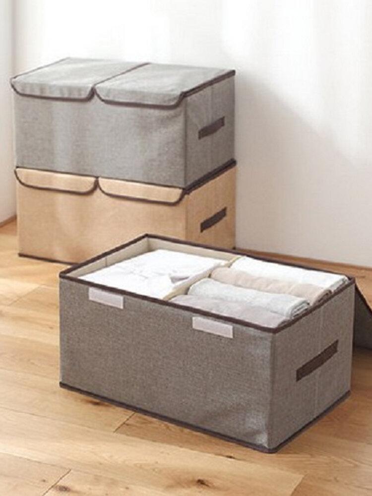 Große Vliesstoffe Kleidung Aufbewahrungsbox Baumwolle Leinen Pappbehälter
