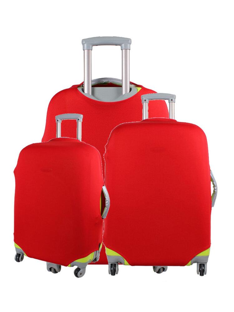रंगीन सामान यात्रा रक्षक सूटकेस कवर ट्रॉली सूटकेस बैग ब्लैक डस्टप्रूफ
