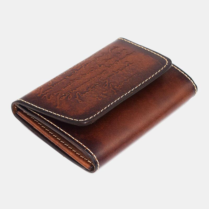 Men Genuine Leather Retro Wallet Purse