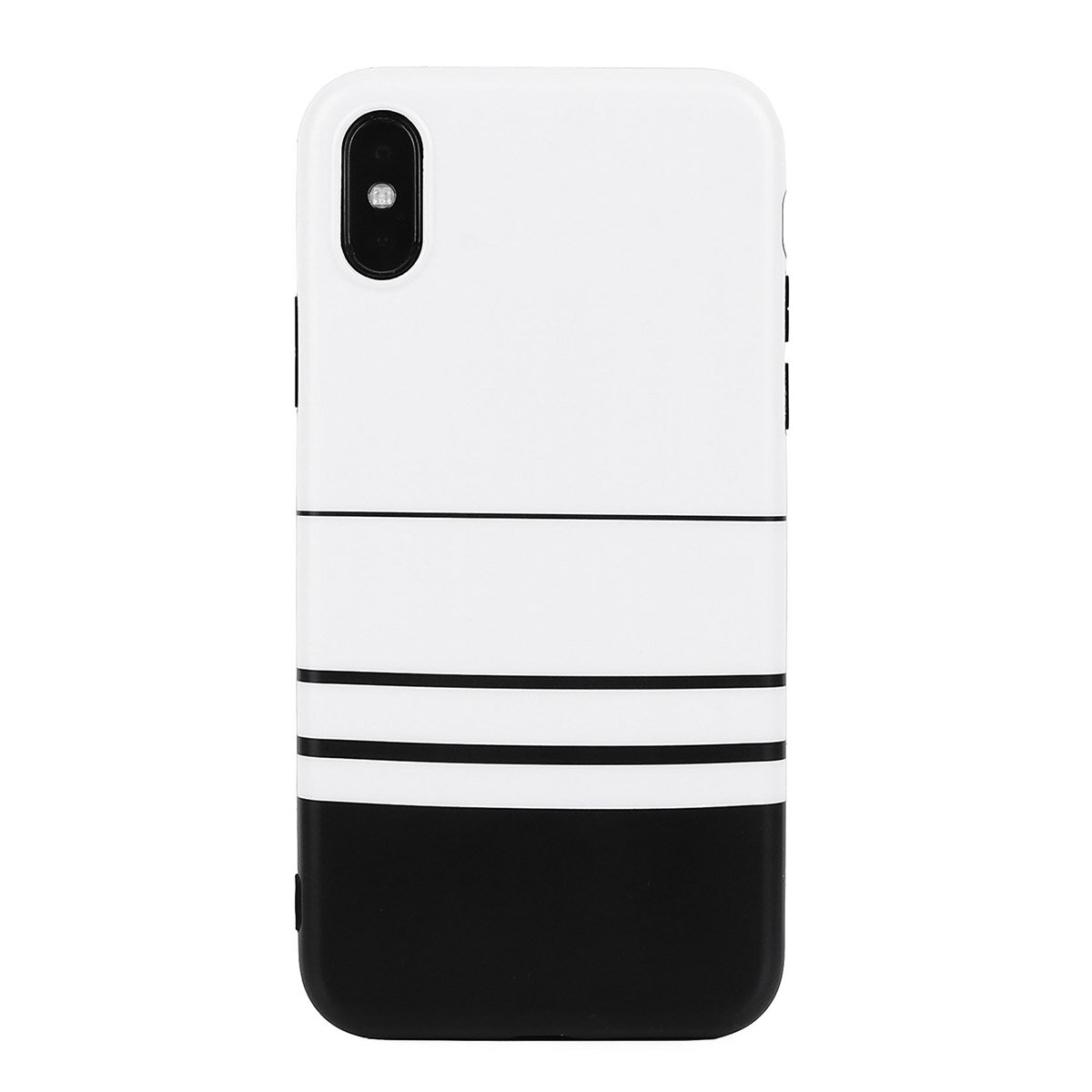 Unisex Woman Striped Black And White Cute TPU Soft Shell Phone Case For iPhone
