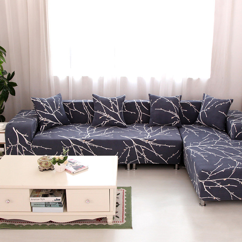 Textile Spandex Strench Sofa Cover Printed Elastic Couch Cover Furniture Protector 4 Sizes