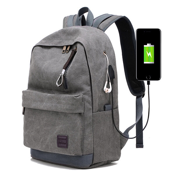 Canvas_USB_Charging_Port_Multifunctional_Travel_Backpack_For_Men