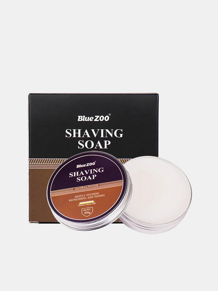 100g Natural Shaving Cream Face Care Shave Beard Shaving Sandalwood Mint Scent Foaming Soap